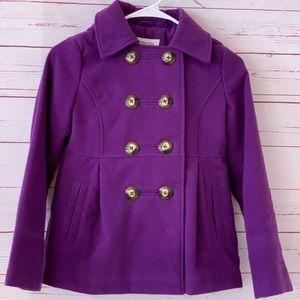 Girls LONDON FOG fleece jacket 10-12 purple